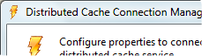 Distributed Cache Connection Manager