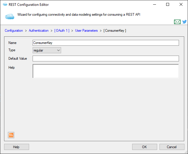User-specified Parameter Page
