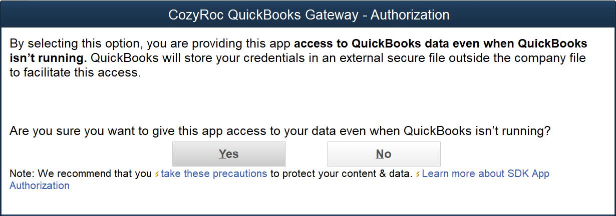 QuickBooks | COZYROC