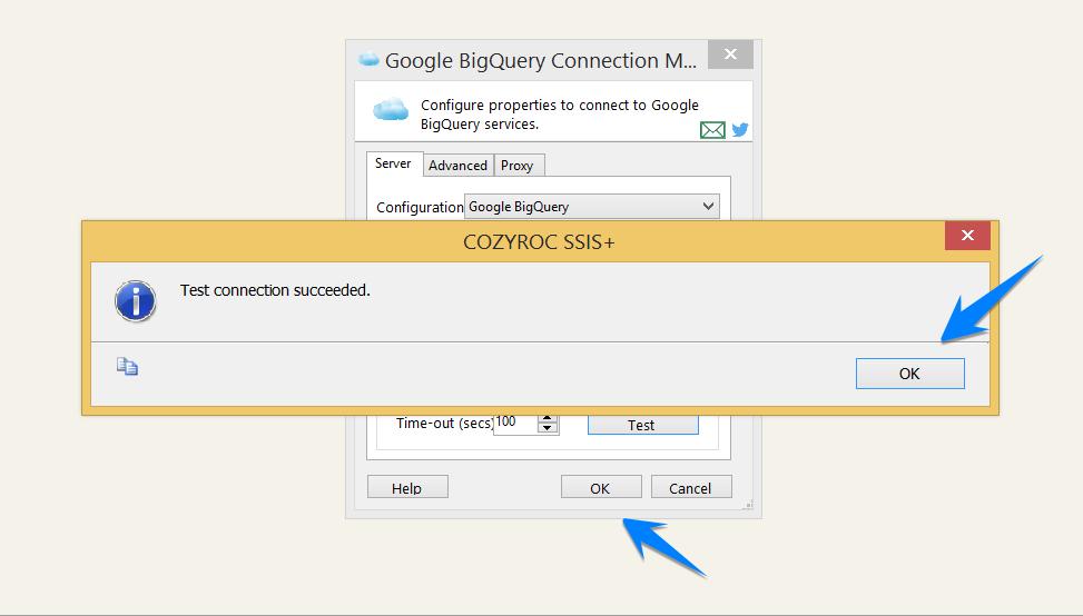 Google BigQuery Connection | COZYROC