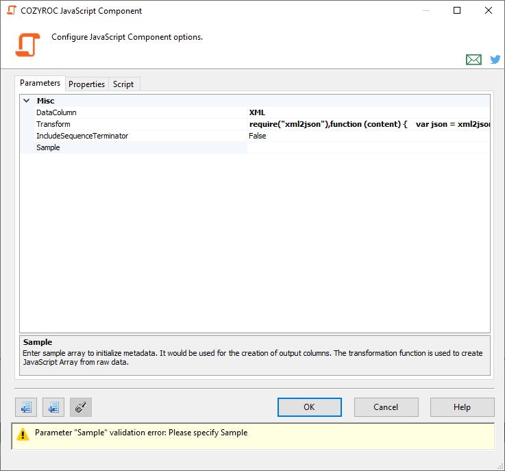Script JSON Transformation | COZYROC