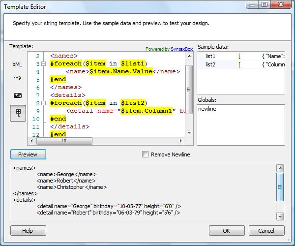 template task cozyroc